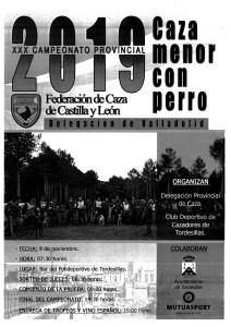 CARTEL 2019 CTO CAZA MENOR CON PERRO-1